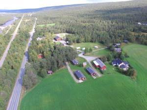 Roste Hyttetun og Camping sett ovenfra