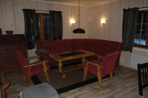 Et sittehjørne på Roste Hyttetun og Camping