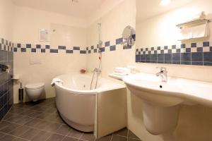 A bathroom at Hotel Lovec