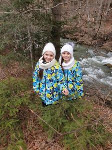 Children staying at Sadyba Lukacha
