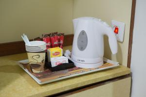 Coffee and tea-making facilities at HI - Ein Gedi Hostel