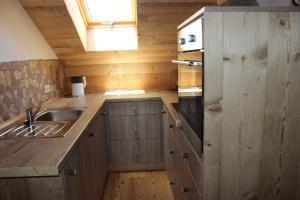 Küche/Küchenzeile in der Unterkunft Gästehaus zum Prinzenfelsen
