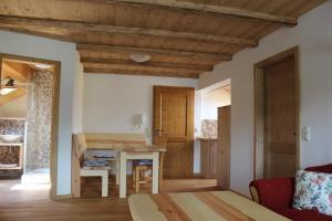 Ein Bett oder Betten in einem Zimmer der Unterkunft Gästehaus zum Prinzenfelsen