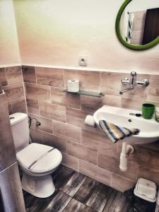 Koupelna v ubytování Hotel Český Ráj