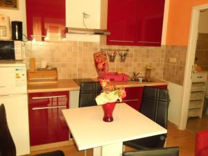 A kitchen or kitchenette at Apartments Kestenovi Dvori