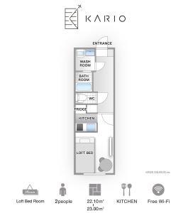 The floor plan of KARIO SASAZUKA TERRACE