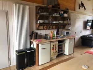 Küche/Küchenzeile in der Unterkunft Alexanderhaus