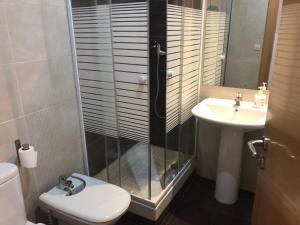 A bathroom at Apartamentos Auhabitat Zaragoza, edificio de apartamentos turísticos con facilidad de parking