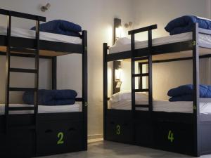 A bunk bed or bunk beds in a room at Oasis Backpackers' Palace Seville