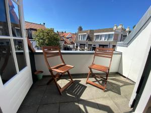Ein Balkon oder eine Terrasse in der Unterkunft Apartment Schelpenplein