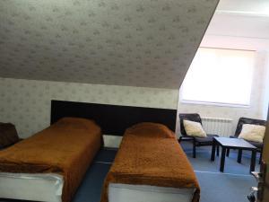 Кровать или кровати в номере Гостевой Дом на Калинина
