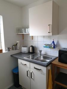 Küche/Küchenzeile in der Unterkunft Pension Boitz