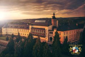 A bird's-eye view of Chateau Zbiroh