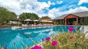 The swimming pool at or near Bagan Lodge