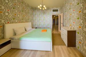 Кровать или кровати в номере Central Port Sea View Вид на Море Центральный Порт