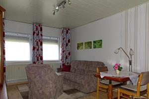 Ein Sitzbereich in der Unterkunft Fewo am Sassenberg