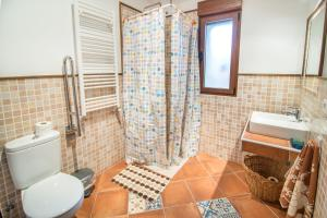 Un baño de Casa Rural LAS ABUBILLAS