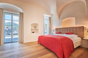 Ein Bett oder Betten in einem Zimmer der Unterkunft Das Schloss an der Eisenstrasse