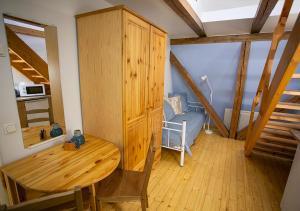 Ein Sitzbereich in der Unterkunft Villa Hortensia