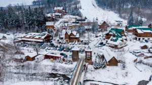 Hirskyy Svitanok during the winter