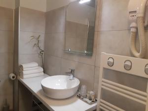 A bathroom at Aerotel Versailles Saint Cyr - L'étape du Silence