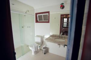 A bathroom at Hotel Solar Das Lajes