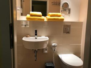 Ein Badezimmer in der Unterkunft Pension Elan