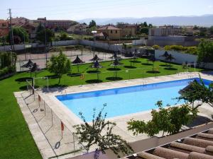 A view of the pool at Puerta de Segovia or nearby