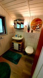 Ein Badezimmer in der Unterkunft Lille Hus