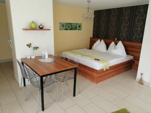 Ein Bett oder Betten in einem Zimmer der Unterkunft Gartenappartement Ybbs