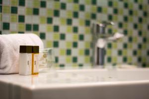 Ein Badezimmer in der Unterkunft Hotel Gollner