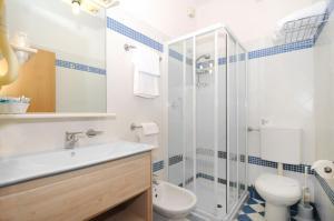 Koupelna v ubytování Hotel Splendid