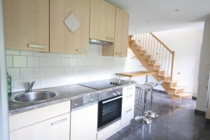 Küche/Küchenzeile in der Unterkunft Ferienhaus am HerbstHof