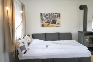 Ein Bett oder Betten in einem Zimmer der Unterkunft Ferienhaus am HerbstHof