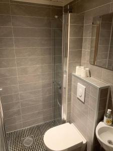 A bathroom at Skei Apartments