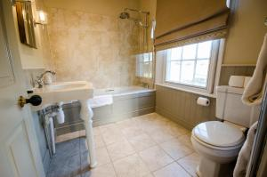 A bathroom at The Black Lion, Long Melford