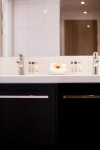 Ett badrum på Spar Hotel Majorna