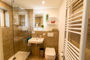 Ein Badezimmer in der Unterkunft Haus Talblick