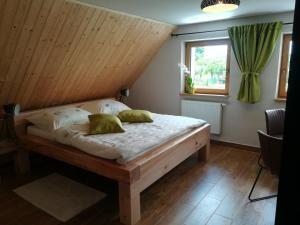 Posteľ alebo postele v izbe v ubytovaní Apartmán Life in Nature