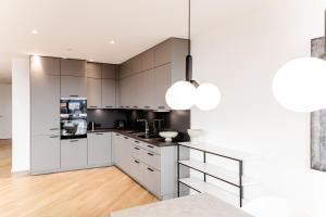 Küche/Küchenzeile in der Unterkunft Stuttgarter Tor - Apartments
