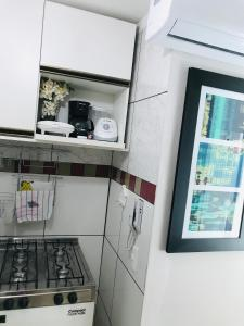 A kitchen or kitchenette at Kitinet 2/4 no Sudoeste