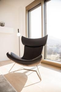 Ein Sitzbereich in der Unterkunft Stuttgarter Tor - Apartments