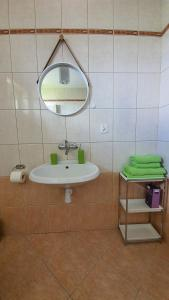 A bathroom at Apartament Jeleń