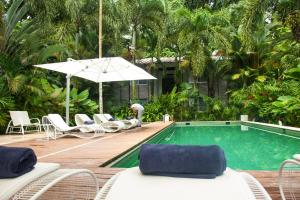 The swimming pool at or near Le Cameleon Boutique Hotel