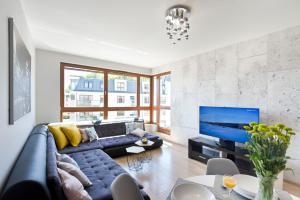 A seating area at Pomorskie Apartamenty Aquarius
