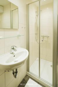 Ein Badezimmer in der Unterkunft Hotel Reiter Bräu