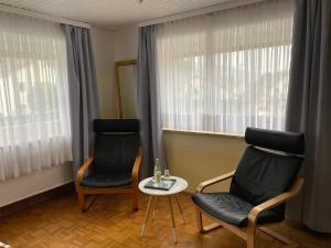 Ein Sitzbereich in der Unterkunft Gasthaus Schlossblick