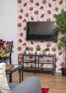 TV a/nebo společenská místnost v ubytování Bloom Apartment