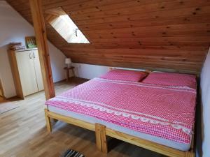 Postel nebo postele na pokoji v ubytování Pension Špejchar u Vojty