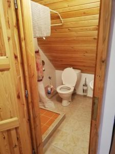 Koupelna v ubytování Pension Špejchar u Vojty